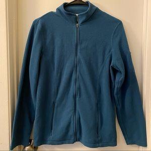 LL Bean Women's size Medium blue/green zip fleece